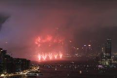 o fogo de artifício do 20o aniversário HK Fotos de Stock