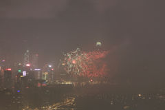 o fogo de artifício do 20o aniversário HK Imagem de Stock Royalty Free