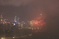o fogo de artifício do 20o aniversário HK Imagem de Stock
