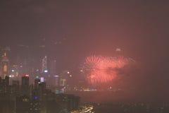 o fogo de artifício do 20o aniversário HK Fotografia de Stock