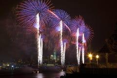O fogo-de-artifício julho de ô do Macy Foto de Stock Royalty Free