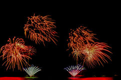 O fogo de artifício, mostra, comemora, o rei do aniversário Imagem de Stock Royalty Free