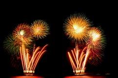 O fogo de artifício, mostra, comemora, o rei do aniversário Imagens de Stock Royalty Free