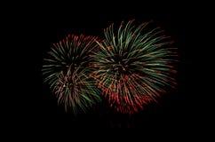 O fogo de artifício, mostra, comemora, o rei do aniversário Fotografia de Stock