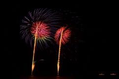 O fogo de artifício, mostra, comemora, o rei do aniversário Fotografia de Stock Royalty Free