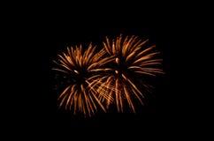 O fogo de artifício, mostra, comemora, o rei do aniversário Fotos de Stock