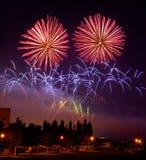 O fogo-de-artifício Foto de Stock Royalty Free