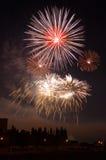O fogo-de-artifício Fotografia de Stock