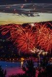 O fogo de Hobart New Years Eve trabalha 1 foto de stock royalty free