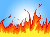 O fogo do fundo mostra o espaço e o contexto do texto Fotografia de Stock Royalty Free