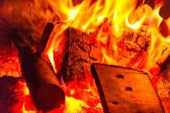 O fogo no jardim 1 Imagem de Stock Royalty Free