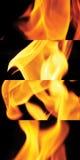 O fogo para cozinhar está chamejando Imagem de Stock