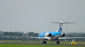 O Fokker 70 de KLM Cityhopper acelera filme