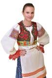 O folclore eslovaco veste tradicional fotos de stock royalty free