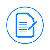 O formulário, edita a linha circular ícone do original Sinal colorido redondo Símbolo liso do vetor do estilo ilustração royalty free