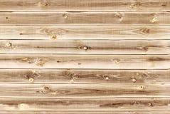 O forro de madeira embarca a parede Luz - textura de madeira marrom painéis velhos do fundo, teste padrão sem emenda Pranchas hor Foto de Stock