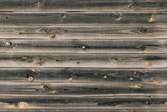 O forro de madeira embarca a parede Textura da madeira do marrom escuro painéis velhos do fundo, teste padrão sem emenda Pranchas Imagem de Stock