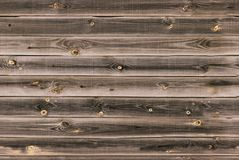O forro de madeira embarca a parede textura de madeira marrom do midtone painéis velhos do fundo, teste padrão sem emenda Prancha Fotografia de Stock