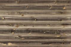 O forro de madeira embarca a parede textura de madeira marrom do midtone painéis velhos do fundo, teste padrão sem emenda Prancha Imagem de Stock Royalty Free