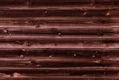 O forro de madeira embarca a parede textura de madeira marrom de mogno escura painéis velhos do fundo, teste padrão sem emenda Pr Imagens de Stock Royalty Free