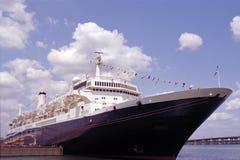 O forro de oceano do vintage entrou em Tampa, Florida Imagem de Stock Royalty Free