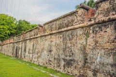 O forte Cornwallis em Georgetown, Penang, é um forte de estrela construído pelos Britânico Leste Índia Empresa no final do século fotografia de stock royalty free