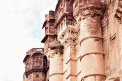 O forte de Jaisalmer igualmente chamou Dourado Forte, sonar Quila ou Sone Ka Quila na ?ndia de Rajasthan da cidade do deserto Um  foto de stock