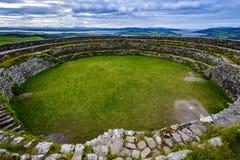 O forte de pedra do ¡ n de Grianà de Aileach imagens de stock