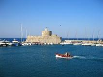 O forte de São Nicolau Ilha do Rodes Greece Imagem de Stock