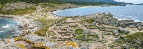 O forte do ` s de Barona, perto de Porto faz o filho na província do La Coruna, Galiza imagem de stock royalty free