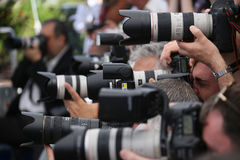 O fotógrafo atende às batidas do ` 120 pelo minuto 120 Battements P Fotografia de Stock