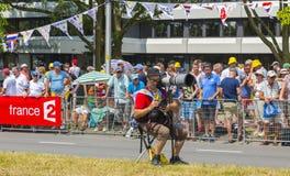 O fotógrafo - Tour de France 2016 Imagem de Stock Royalty Free