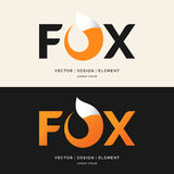 O Fox da inscrição, o logotipo moderno e o emblema Foto de Stock