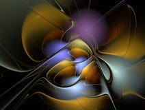 O fractal abstrato colorido alinha o fundo Imagens de Stock Royalty Free