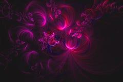 O fractal abstrato ilustrou o papel de parede rendido fundo ilustração royalty free