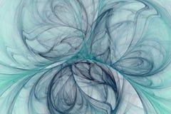 O fractal abstrato ilustrou o papel de parede rendido fundo ilustração do vetor