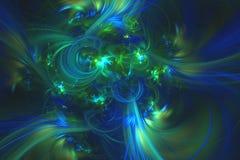 O fractal abstrato ilustrou o papel de parede rendido fundo Fotografia de Stock