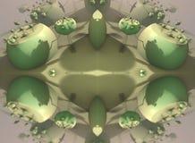 O fractal quatro faz a rendição geométrica abstrata de composition-3d Fotos de Stock