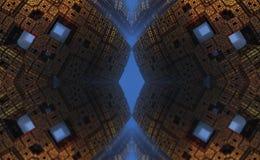 O fractal quatro faz a rendição geométrica abstrata de composition-3d Foto de Stock