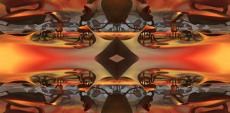 O fractal quatro faz a rendição geométrica abstrata de composition-3d Imagem de Stock