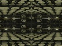O fractal quatro faz a rendição geométrica abstrata de composition-3d Foto de Stock Royalty Free