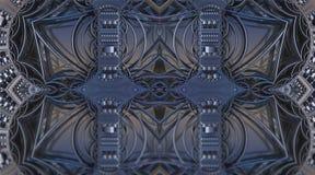 O fractal quatro faz a rendição geométrica abstrata de composition-3d Fotografia de Stock