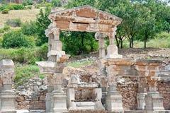 O fragmento da arquitetura de Ephesus, Turquia Fotografia de Stock Royalty Free
