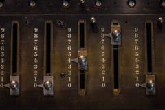 O fragmento da máquina velha e do vintage de adição Imagens de Stock Royalty Free