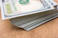 O fragmento da nota de dólar 100 Foto de Stock Royalty Free