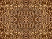 O fragmento de linhas quadradas obscuridade marrom cinzenta alaranjada cor-de-rosa vermelha da textura ou do cruzamento do ouro d Fotografia de Stock