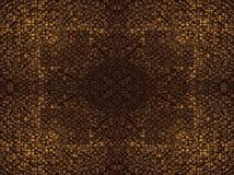 O fragmento de linhas quadradas obscuridade marrom cinzenta alaranjada cor-de-rosa vermelha da textura ou do cruzamento do ouro d Foto de Stock