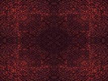 O fragmento de linhas quadradas obscuridade marrom cinzenta alaranjada cor-de-rosa vermelha da textura ou do cruzamento do ouro d Fotos de Stock