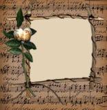 O frame da filial no fundo da música com levantou-se Fotografia de Stock Royalty Free