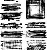 O frame de Grunge ajustou II Imagens de Stock